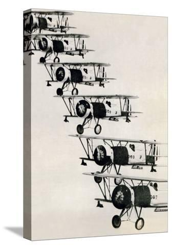 Flying in Formation--Stretched Canvas Print