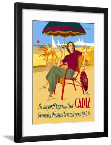 Cadiz, La Mejor Playa del Sur--Framed Art Print