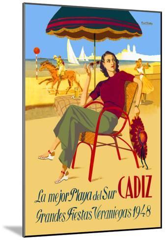 Cadiz, La Mejor Playa del Sur--Mounted Art Print