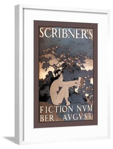 Scribner's Fiction, August 1897-Maxfield Parrish-Framed Art Print