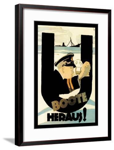 The U-Boats Are Out-Hans Rudi Erdt-Framed Art Print