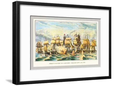 Perry's Victory on Lake Erie--Framed Art Print