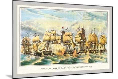 Perry's Victory on Lake Erie--Mounted Art Print