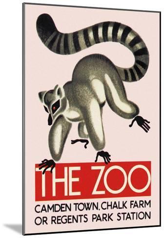 The Lemur--Mounted Art Print