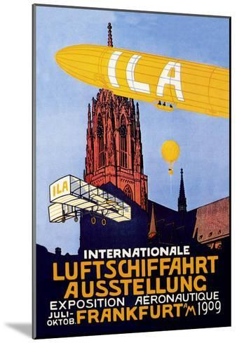 I.L.A., Airship, Balloon and Plane Fly over a Cathedral in Frankfort Wor--Mounted Art Print