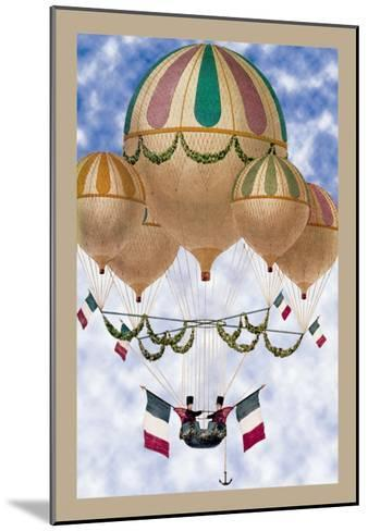 Balloon Flotill Highly Decorated Balloons Sport the Italian Flag and Its Colors--Mounted Art Print