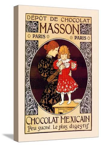 Depot de Chocolat Masson: Chocolat Mexicain-Eugene Grasset-Stretched Canvas Print