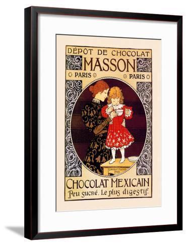 Depot de Chocolat Masson: Chocolat Mexicain-Eugene Grasset-Framed Art Print