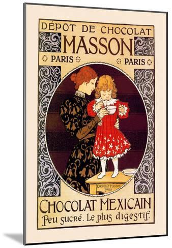 Depot de Chocolat Masson: Chocolat Mexicain-Eugene Grasset-Mounted Art Print