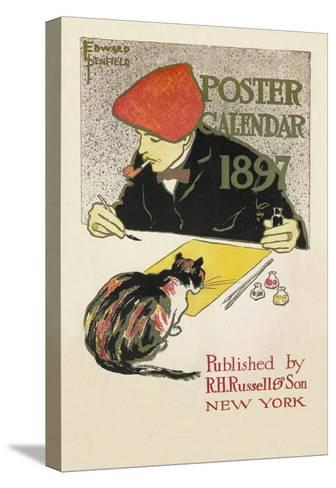 Poster Calendar 1897-Edward Penfield-Stretched Canvas Print