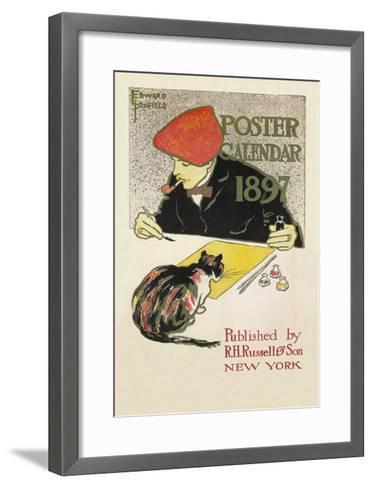 Poster Calendar 1897-Edward Penfield-Framed Art Print