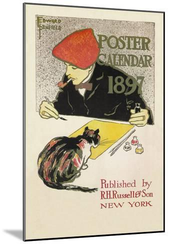 Poster Calendar 1897-Edward Penfield-Mounted Art Print