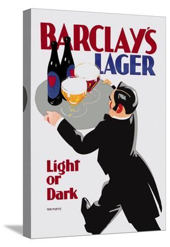Barclay's Lager: Light or Dark-Tom Purvis-Stretched Canvas Print