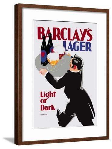 Barclay's Lager: Light or Dark-Tom Purvis-Framed Art Print