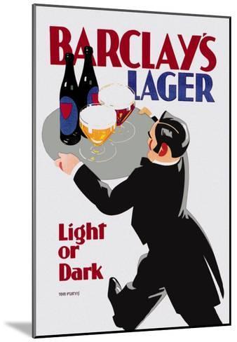Barclay's Lager: Light or Dark-Tom Purvis-Mounted Art Print