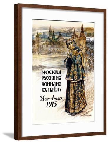 Moscow to the Russian Prisoners of War-Sergei A. Vinogradov-Framed Art Print