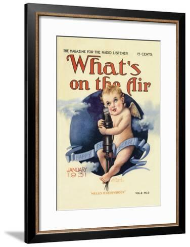 What's on the Air: Hello Everybody--Framed Art Print