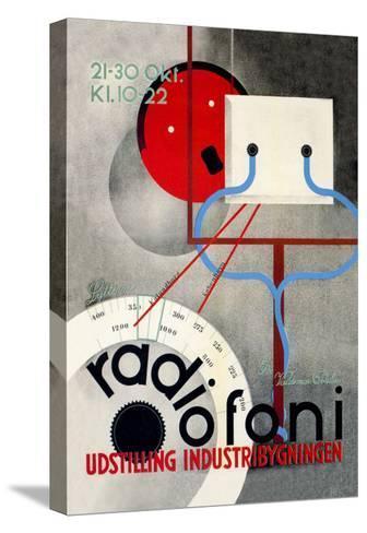 Radiofoni Udstilling Industribygningen--Stretched Canvas Print