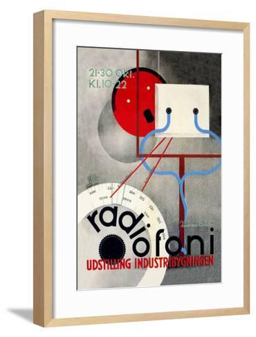 Radiofoni Udstilling Industribygningen--Framed Art Print