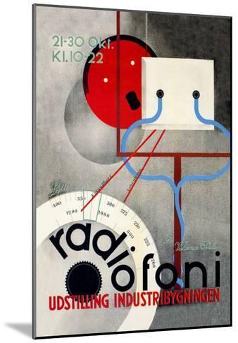 Radiofoni Udstilling Industribygningen--Mounted Art Print