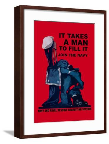 It Takes a Man to Fill It-Charles Stafford Duncan-Framed Art Print