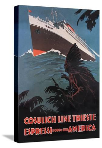 Trieste Cruise Line to North and South America-A. Dondov-Stretched Canvas Print