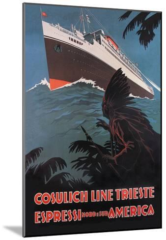 Trieste Cruise Line to North and South America-A. Dondov-Mounted Art Print