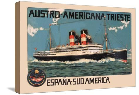 Austro-Americana Trieste Cruise Line--Stretched Canvas Print