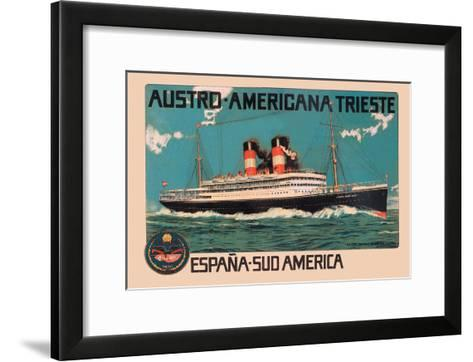 Austro-Americana Trieste Cruise Line--Framed Art Print