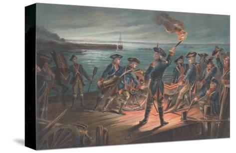 U.S. Army, Artillery Retreat from Long Island, 1776-Arthur Wagner-Stretched Canvas Print