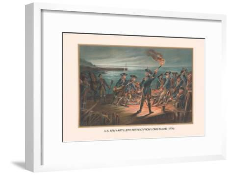 U.S. Army, Artillery Retreat from Long Island, 1776-Arthur Wagner-Framed Art Print