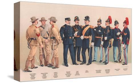 Uniforms of 7 Artillery and 3 Officers, 1899-Arthur Wagner-Stretched Canvas Print