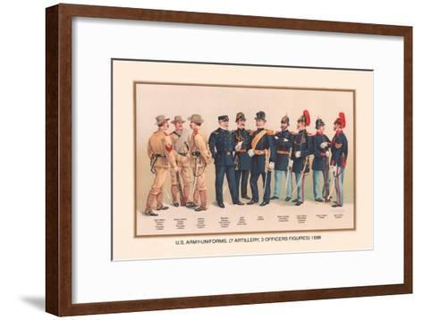 Uniforms of 7 Artillery and 3 Officers, 1899-Arthur Wagner-Framed Art Print