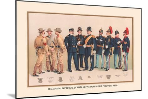Uniforms of 7 Artillery and 3 Officers, 1899-Arthur Wagner-Mounted Art Print