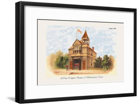 Fire Engine House at Moderate Cost--Framed Art Print