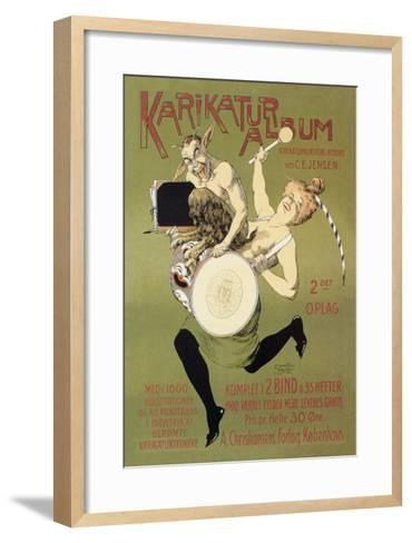 Woman and Pan with Drum-Carsten Ravn-Framed Art Print