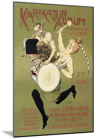 Woman and Pan with Drum-Carsten Ravn-Mounted Art Print