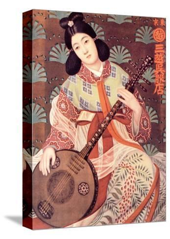 Japanese Musician--Stretched Canvas Print
