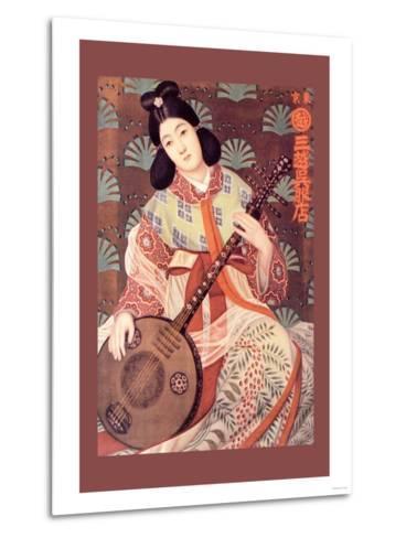 Japanese Musician--Metal Print