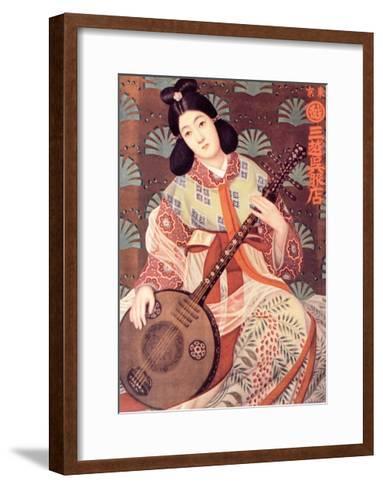 Japanese Musician--Framed Art Print