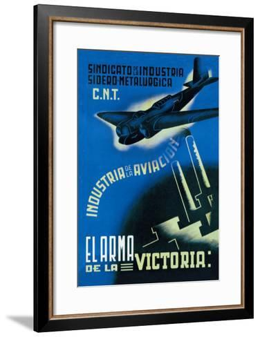 The Aviation Industry: The Arm of Victory-Vicente Cadena-Framed Art Print