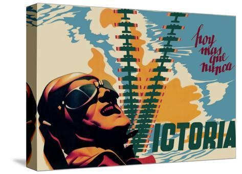 Victory-Josep Renau Montoro-Stretched Canvas Print