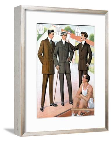 At the Boathouse--Framed Art Print
