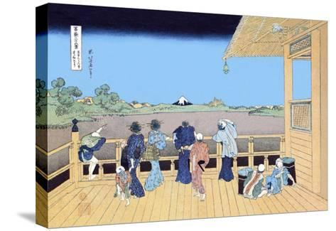 View of Mount Fuji from the Porch-Katsushika Hokusai-Stretched Canvas Print