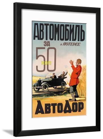 Automobile Lottery 50 Kopeks--Framed Art Print