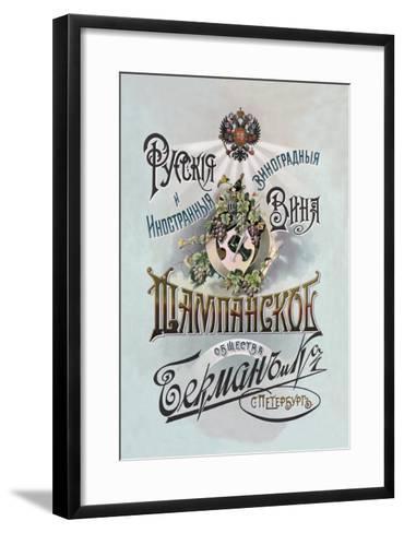 Champagne, Russian Wine--Framed Art Print