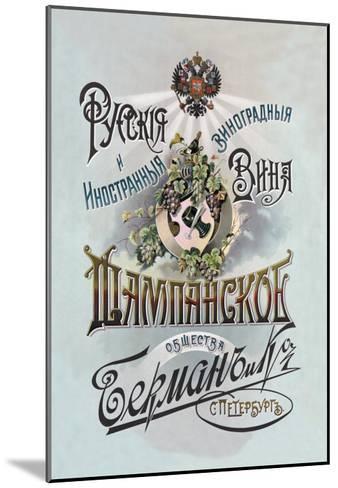Champagne, Russian Wine--Mounted Art Print