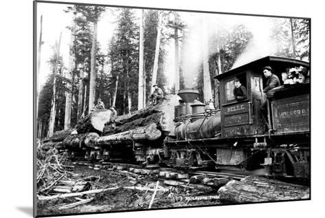 Logging Train-Clark Kinsey-Mounted Art Print