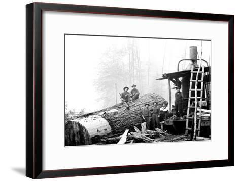 Lumber Break-Clark Kinsey-Framed Art Print