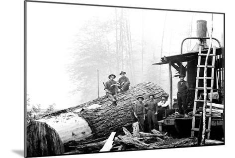 Lumber Break-Clark Kinsey-Mounted Art Print